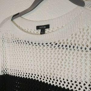 Apt. 9 Long, Knit See-Thru Sweater